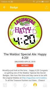 Waldo's Special ale: happy 4:20