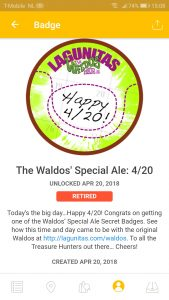 Waldo's Special Ale 4/20 badge